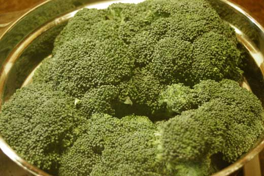Broccoli, bereit zum Dünsten