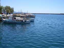 Blick aufs Meer vom Hafen in Kalamata