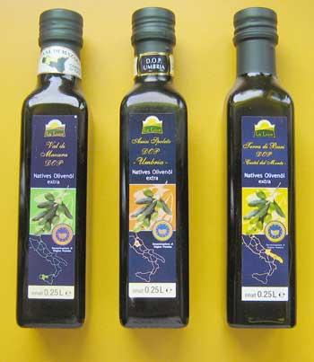 Einzelflaschen Aldi-Olivenöl
