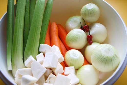 Gemüse für Bolognese