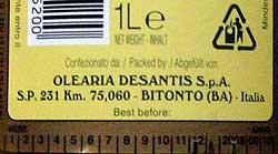 Etikett Abfüller