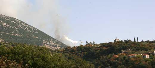Feuer auf dem Peloponnes