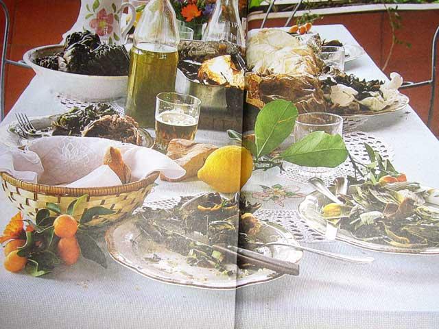 gedeckte Tafel nach dem Essen