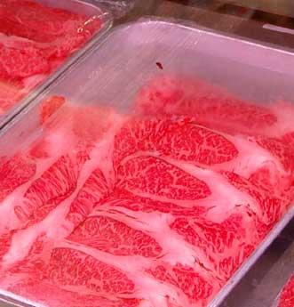 Rindfleisch marmoriert