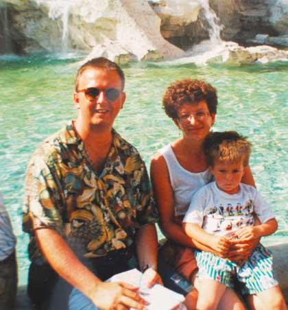 1991 am Trevi-Brunnen