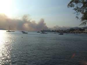 Waldbrand in Griechenland