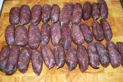 Wildschwein-Salsiccie