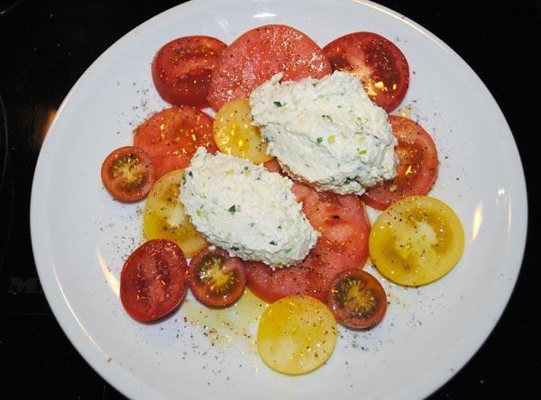 Ricottanockerl mit Tomatencarpaccio