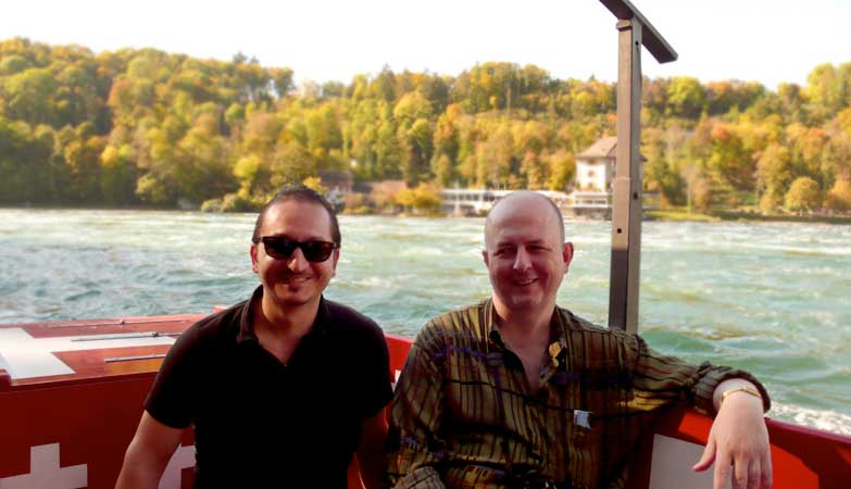 Claudio & Mike auf dem Rhein