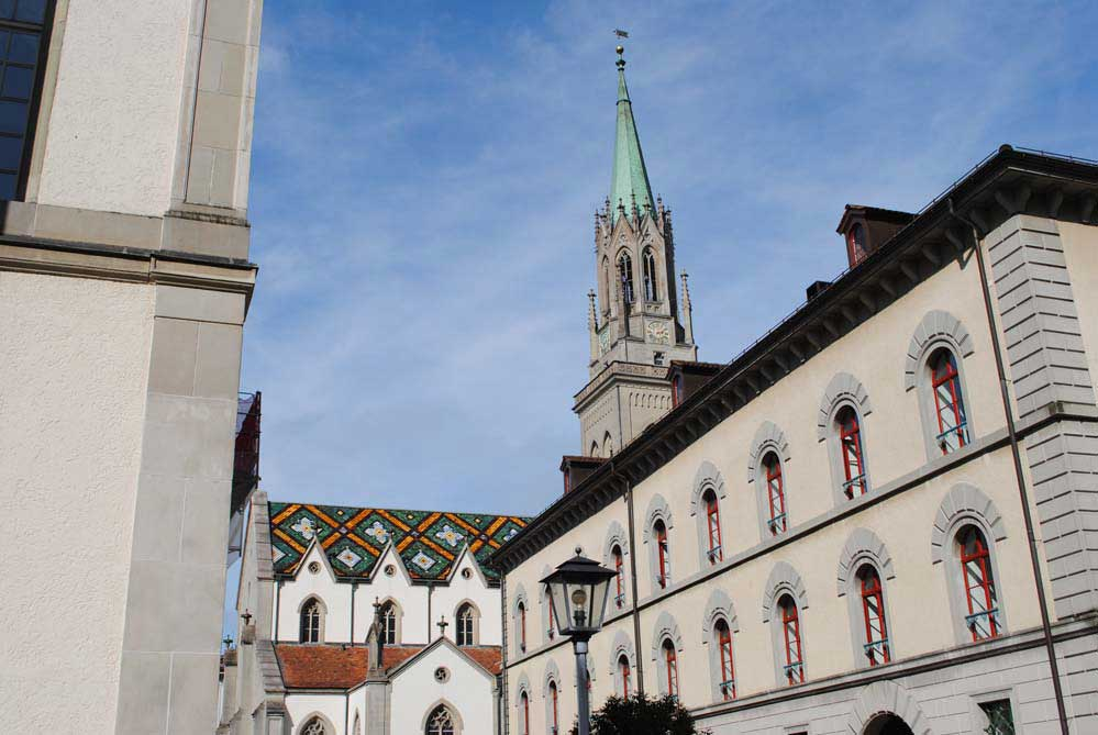 Der Turm mit dem Dach, St. Laurenzen Kirche