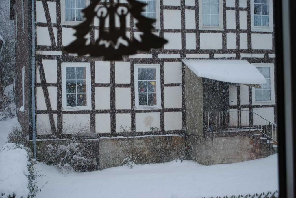 Blick aus dem rechten Küchenfenster