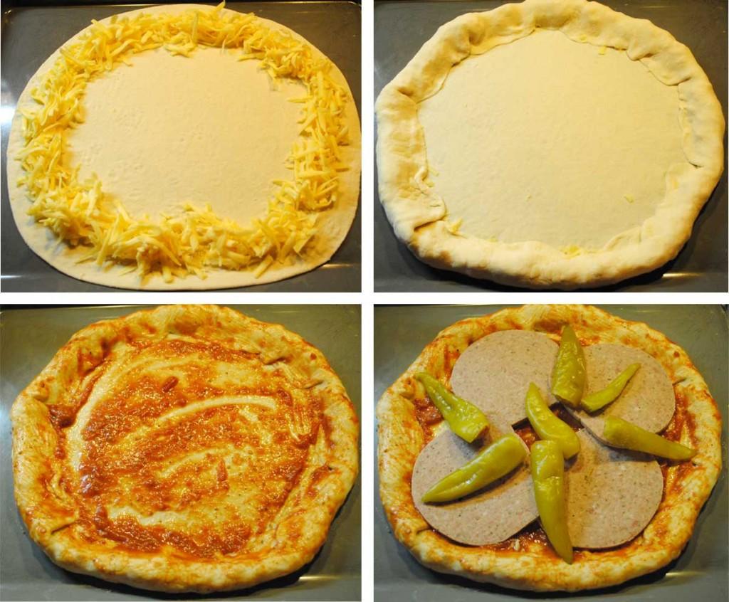 Herstellung einer Hessenpizza