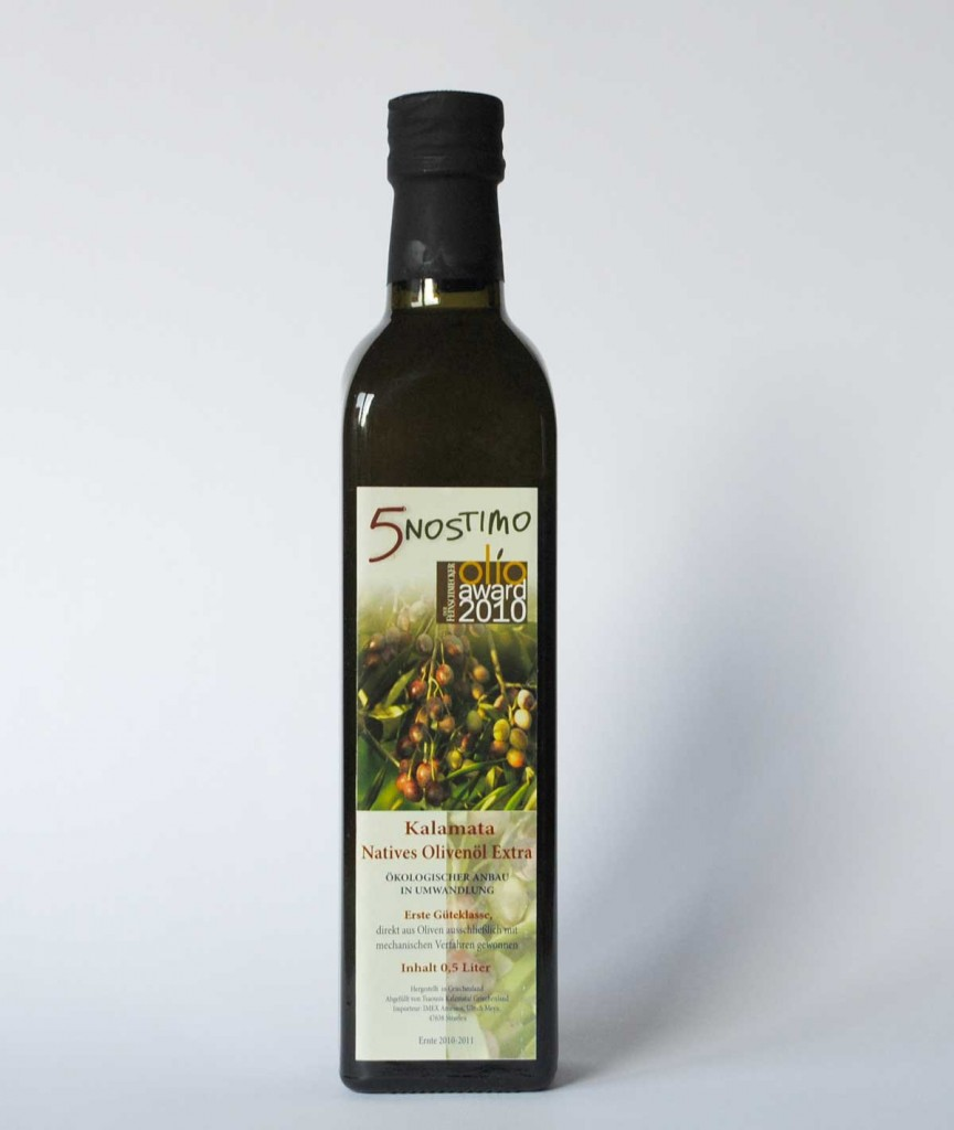 5nostimo Olivenöl Extra Nativ aus dem Peleponnes, Griechenland