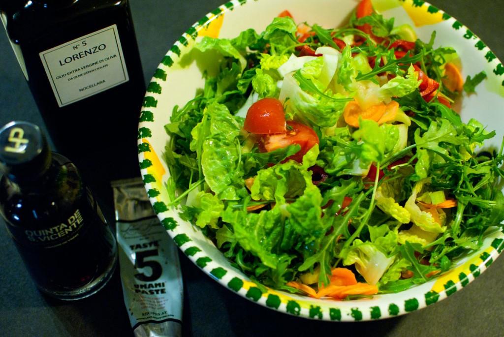 Zutaten für den Salat mit Jamies Mindblowingdressing