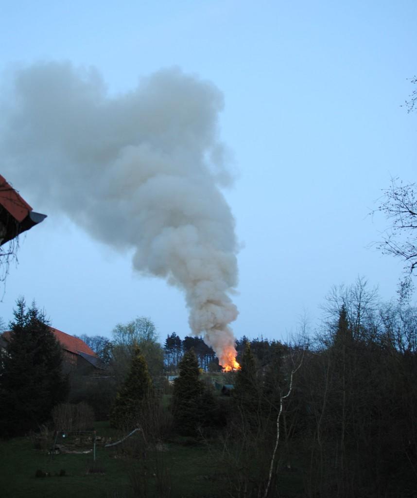 Osterfeuer in Fürstenhagen