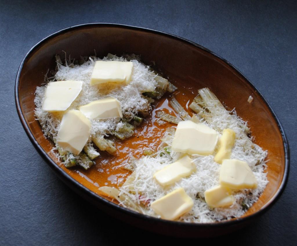 Mangoldstiele mit Parmesan