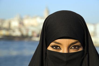 Mit der normalen Burka ...